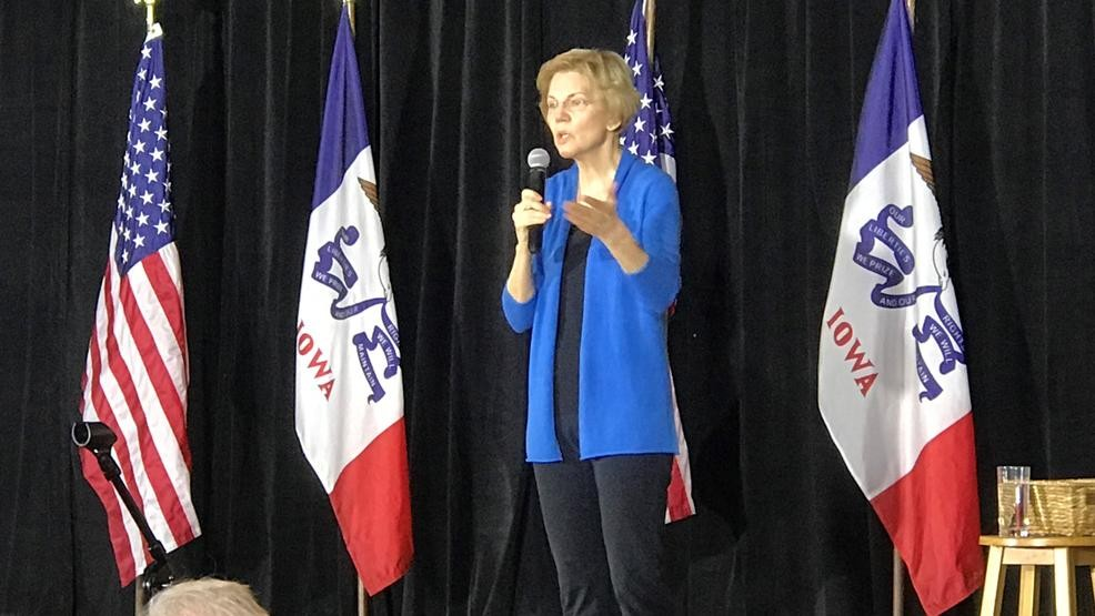 Image result for elizabeth warren iowa
