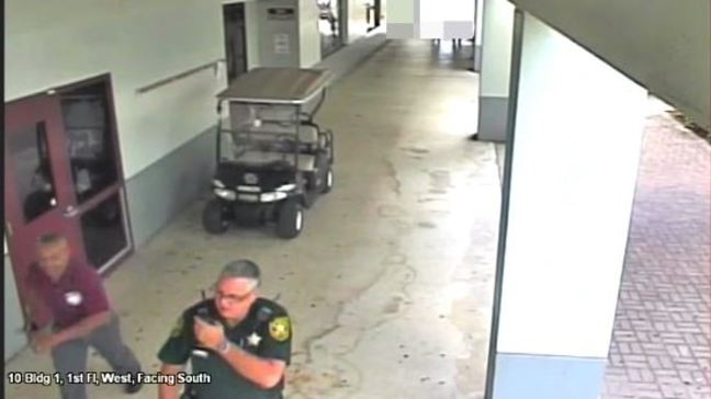 Video of events outside Florida school shooting released | KGAN